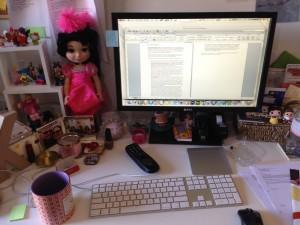 Kathy Garbera's writing desk