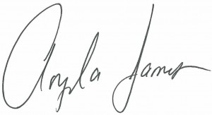 Angela James signature