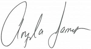 Angela James signature